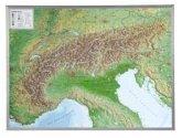 Alpenbogen, Reliefkarte, Groß