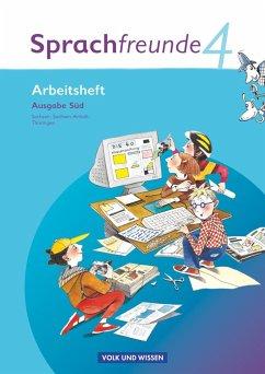Sprachfreunde 4. Schuljahr. Arbeitsheft. Ausgabe Süd (Sachsen, Sachsen-Anhalt, Thüringen) - Wessel, Heike; Schindler, Heike; Knoefler, Andrea; Kelch, Susanne