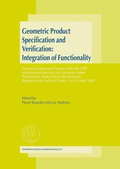 Geometric Product Specification and Verification: Integration of Functionality