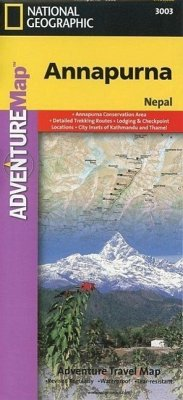 National Geographic Adventure Map Annapurna