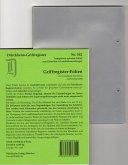 110 DürckheimRegister®-FOLIEN zum Einheften in Gesetzessammlungen