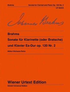 Sonate für Klarinette (oder Bratsche) und Klavier Es-Dur op. 120 Nr. 2 - Herausgegeben von Müller, Hans-Christian Komposition: Brahms, Johannes
