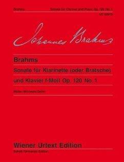 Sonate für Klarinette (oder Bratsche) und Klavier f-Moll Op. 120 No. 1 - Herausgegeben:Müller, Hans-ChristianKomposition:Brahms, Johannes