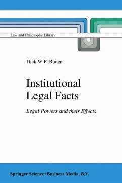 Institutional Legal Facts: Legal Powers and their Effects D.W. Ruiter Author