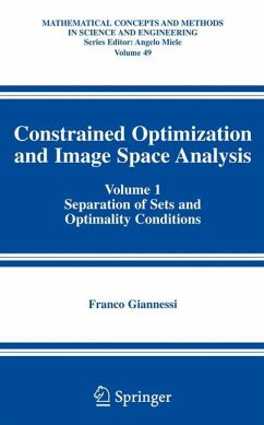 Constrained Optimization and Image Space Analysis - Giannessi, Franco