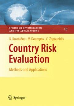 Country Risk Evaluation - Kosmidou, Kyriaki; Doumpos, Michael; Zopounidis, Constantin
