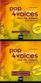 77 Choraufnahmen a cappella und 21 Aufnahmen Chor & Band, 21 instrumentale Playbacks, 6 Audio-CDs / pop 4 voices