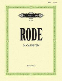 24 Caprices für Violine solo - Rode, Pierre
