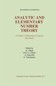 Analytic and Elementary Number Theory - Alladi, Krishnaswami; Elliott, P.D.T.A.; Granville, Andrew