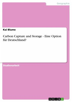 Carbon Capture and Storage - Eine Option für Deutschland? - Blume, Kai