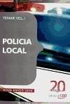 Policia Local. Temari Vol. I.