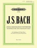 Notenbuch der Anna Magdalena Bach -Auswahl von 20 leichten Klavierstücken-