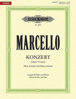 Oboenkonzert d für Oboe u. Klavier, für Oboe, Streicher und Bc - Marcello, Alessandro