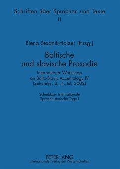 Baltische und slavische Prosodie