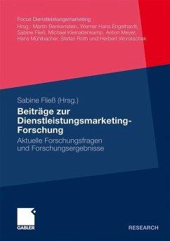 Beiträge zur Dienstleistungsmarketing-Forschung