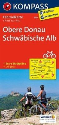 Kompass Fahrradkarte Obere Donau, Schwäbische Alb / Kompass Fahrradkarten