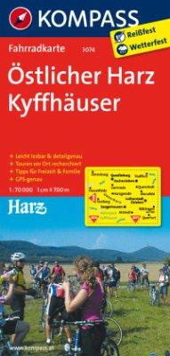 Kompass Fahrradkarte Östlicher Harz, Kyffhäuser...