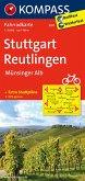 Kompass Fahrradkarte Stuttgart - Reutlingen - Münsinger Alb / Kompass Fahrradkarten