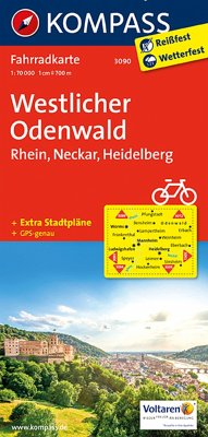 Kompass Fahrradkarte Westlicher Odenwald / Kompass Fahrradkarten