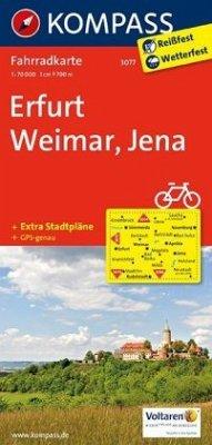 Kompass Fahrradkarte Erfurt - Weimar - Jena / Kompass Fahrradkarten