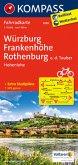 Kompass Fahrradkarte Würzburg, Frankenhöhe, Rothenburg o. d. Tauber, Hohenlohe / Kompass Fahrradkarten