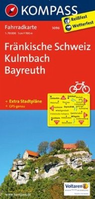 Kompass Fahrradkarte Fränkische Schweiz, Kulmba...