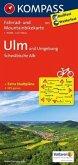 KOMPASS Fahrradkarte Ulm und Umgebung - Schwäbische Alb / Kompass Fahrradkarten