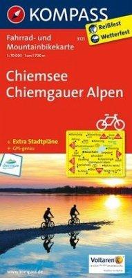 KOMPASS Fahrradkarte Chiemsee - Chiemgauer Alpen / Kompass Fahrradkarten