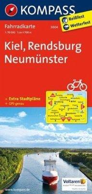 Kompass Fahrradkarte Kiel, Rendsburg, Neumünste...