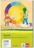 3./4. Schuljahr, 3 Audio-CDs und 1 Video-DVD zum Schülerbuch / Duett, Ausgabe Grundschule, Neubearbeitung