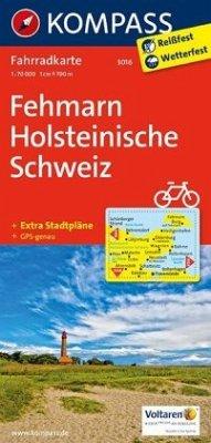 Kompass Fahrradkarte Fehmarn, Holsteinische Sch...