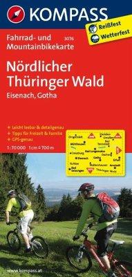 Kompass Fahrradkarte Nördlicher Thüringer Wald ...