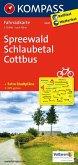 Kompass Fahrradkarte Spreewald, Schlaubetal, Cottbus / Kompass Fahrradkarten