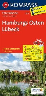 Kompass Fahrradkarte Hamburgs Osten, Lübeck / Kompass Fahrradkarten