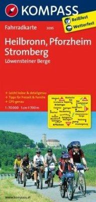 KOMPASS Fahrradkarte Heilbronn - Pforzheim - Stromberg - Löwensteiner Berge / Kompass Fahrradkarten