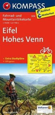 Kompass Fahrradkarte Eifel, Hohes Venn / Kompas...