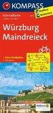 Kompass Fahrradkarte Würzburg, Maindreieck / Kompass Fahrradkarten