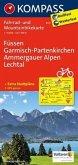 KOMPASS Fahrradkarte Füssen - Garmisch-Partenkirchen - Ammergauer Alpen - Lechtal / Kompass Fahrradkarten