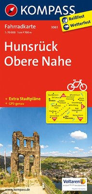 Kompass Fahrradkarte Hunsrück, Obere Nahe / Kompass Fahrradkarten