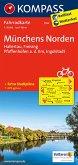 KOMPASS Fahrradkarte Münchens Norden, Hallertau, Freising, Pfaffenhofen a. d. Ilm, Ingolstadt / Kompass Fahrradkarten