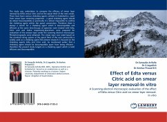 Effect of Edta versus Citric acid on smear layer removal-In vitro