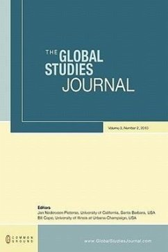 The Global Studies Journal: Volume 3, Number 2 - Herausgeber: Nederveen Pieterse, Jan Cope, Bill