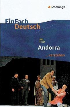 Andorra EinFach Deutsch ...verstehen - Frisch, Max; Berger, Norbert