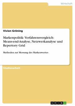 Markenpolitik- Verfahrensvergleich: Means-end-Analyse, Netzwerkanalyse und Repertory Grid - Gröning, Vivien