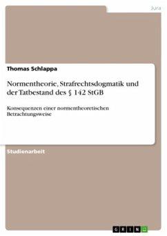 Normentheorie, Strafrechtsdogmatik und der Tatbestand des  142 StGB - Schlappa, Thomas