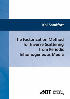 The factorization method for inverse scattering from periodic inhomogeneous media