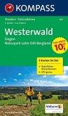 Kompass Karte Westerwald, 2 Bl. m. Kompass Naturführer Wiesenblumen