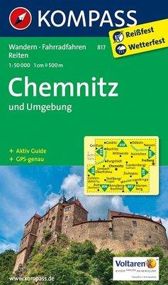 Kompass Karte Chemnitz und Umgebung