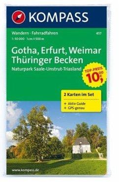 Kompass Karte Gotha, Erfurt, Weimar, Thüringer ...