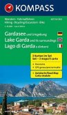 Kompass Karte Gardasee und Umgebung, 3 Bl.; Lake Garda and its surroundings, 3 Bl.; Lago di Garda e dintorni, 3 Bl.